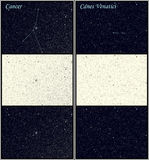 Constellation Cancer Canes Venatici stock illustration