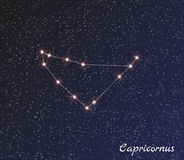 Constellation capricornus Royalty Free Stock Photos