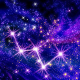 Constellation Cassiopeia. In the sky Royalty Free Stock Photos