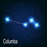 The constellation Columba star in the night sky. Royalty Free Stock Photos