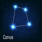 The constellation Corvus star in the night sky. Stock Photography