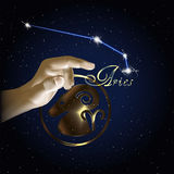 Constellation d'Aries Astrology du zodiaque Photo libre de droits