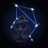 Constellation d'astrologie de Balance du zodiaque Images stock