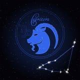 Constellation d'astrologie de Capricom du zodiaque Image libre de droits