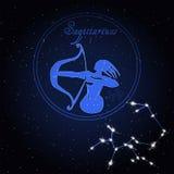 Constellation d'astrologie de Sagittaire du zodiaque Photo stock