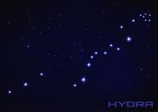 Constellation d'hydre illustration libre de droits