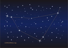 Constellation de Capricornus Photo libre de droits