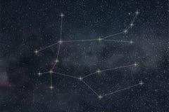 Constellation de Gémeaux Lignes de constellation de Gémeaux de signe de zodiaque illustration libre de droits
