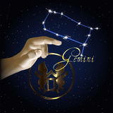 Constellation de Gemini Astrology du zodiaque Photographie stock