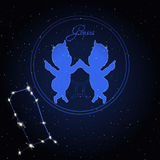 Constellation de Gemini Astrology du zodiaque Photos libres de droits