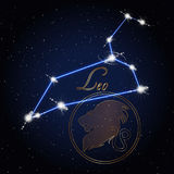 Constellation de Leo Astrology du zodiaque Image libre de droits