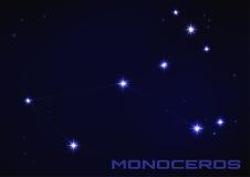 Constellation de Monoceros illustration libre de droits