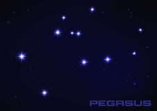 Constellation de Pegasus Photo libre de droits