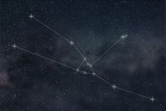 Constellation de Taureau Lignes de Taurus Constellation de signe de zodiaque illustration libre de droits