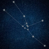Constellation de Taureau Signe Taurus Constellation de zodiaque illustration libre de droits