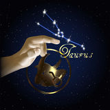Constellation de Taurus Astrology du zodiaque Photos stock
