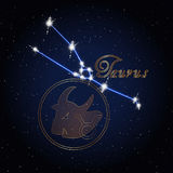 Constellation de Taurus Astrology du zodiaque Photographie stock