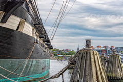 Constellation Fregate Cannons in Baltimore Harbor Stock Images