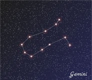 Constellation gemini Stock Image