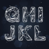 Constellation Geometric Font G-L Stock Photography