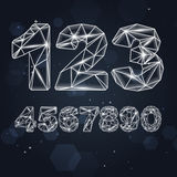 Constellation Geometric Numbers Royalty Free Stock Photography