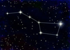 Constellation the Great Bear stock photography