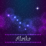 Constellation the Great Bear and Polaris. Symbol of Alaska. Royalty Free Stock Images