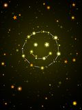 Constellation of happiness royalty free illustration