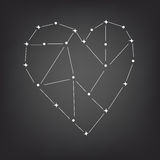 Constellation of the heart. Love constellation of the heart space, vector Stock Photo