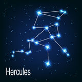 The constellation Hercules star in the night Royalty Free Stock Photo