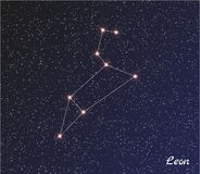 Constellation Léon illustration stock