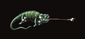 Constellation le caméléon Images libres de droits