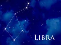 Constellation Libra. Night sky with Libra constellation Royalty Free Stock Image
