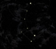 Constellation of the Little dipper Royalty Free Stock Photography