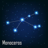 The constellation  Monoceros star in the night Stock Images