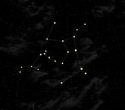 Constellation of Oat-flakes. Star map of sky. Constellation of Oat-flakes, located in  the North hemisphere of sky. Evidently on all territory of Russia Royalty Free Stock Photos