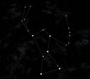 Constellation is Orion. Star map of sky. Constellation Orion is equatorial constellation. Visible with a naked eye Large fog of Orion is located in Orion. Other Royalty Free Stock Photos