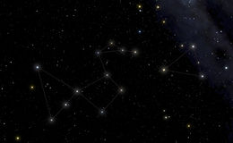 Constellation of Peacock in the left and Southern Triangle in th Stock Photo