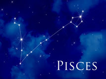 Constellation Pisces stock photos