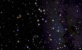 Constellation of Sagittarius in front of the Milky Way. Royalty Free Stock Photography