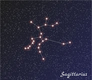 Constellation sagittarius Stock Photography