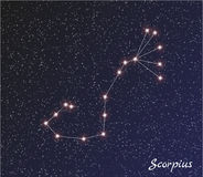 Constellation scorpius Royalty Free Stock Photography