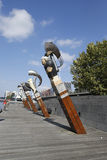 Constellation sculptures by Bruce Armstrong and Geoffrey Bartlet in Melbourne. Stock Photo