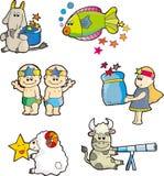 Constellation set twelve Royalty Free Stock Images