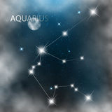 Constellation sign bright stars in cosmos Stock Photo