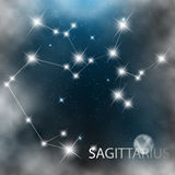 Constellation sign bright stars in cosmos Royalty Free Stock Images