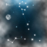 Constellation sign bright stars in cosmos Royalty Free Stock Photography