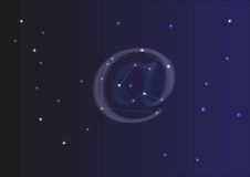 Constellation of at symbol. With stars Royalty Free Stock Image