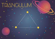 The constellation Triangulum. Bright image of the constellation Triangulum. Kids who are fond of astronomy will like it very much vector illustration