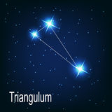 The constellation Triangulum star in the night Stock Image